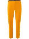 Брюки укороченные с ремнем oodji #SECTION_NAME# (желтый), 21701094/33574/5200N