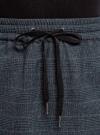 Юбка прямая на завязках oodji для женщины (синий), 11600450/49376/7923C - вид 4