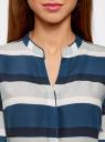 Блузка принтованная из вискозы oodji для женщины (синий), 21400394-2/24681/7520S