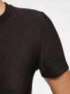 Платье трикотажное с коротким рукавом oodji #SECTION_NAME# (черный), 14011007B/45262/2900N - вид 5