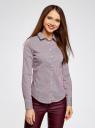 Блузка приталенная в горошек oodji #SECTION_NAME# (фиолетовый), 11403227/46079/1049G - вид 2