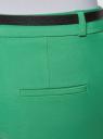 Брюки классические с ремнем oodji для женщины (зеленый), 11702067/33574/6D00N
