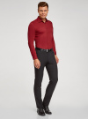 Рубашка базовая приталенная oodji для мужчины (красный), 3B140000M/34146N/4503N - вид 6