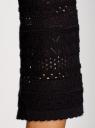 Кардиган ажурной вязки на пуговицах oodji #SECTION_NAME# (черный), 63212573/35472/2900N - вид 5