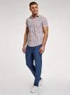 Рубашка приталенная с коротким рукавом oodji #SECTION_NAME# (разноцветный), 3L410071M/44181N/1031C - вид 6