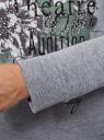 Свитшот хлопковый с принтом oodji #SECTION_NAME# (серый), 14808015-26/46151/2023Z - вид 5