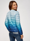 Куртка стеганая с круглым вырезом oodji #SECTION_NAME# (синий), 10204040-1B/42257/7075T - вид 3