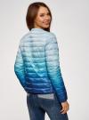 Куртка стеганая с круглым вырезом oodji для женщины (синий), 10204040-1B/42257/7075T - вид 3