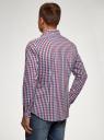 Рубашка в клетку с длинным рукавом oodji #SECTION_NAME# (разноцветный), 3B110028M/39767N/7945C - вид 3