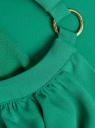 Платье макси с завязками на талии oodji для женщины (зеленый), 11911009/42629/6E00N