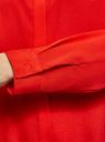 Блузка с декором на воротнике oodji для женщины (красный), 11403172-3/31427/4500N