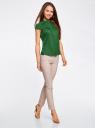 Рубашка с коротким рукавом из хлопка oodji #SECTION_NAME# (зеленый), 11403196-3/26357/6E00N - вид 6