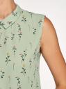 Топ базовый из струящейся ткани oodji для женщины (зеленый), 14911006B/43414/6655F