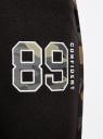 Брюки трикотажные с контрастной отделкой oodji для женщины (черный), 16701050/46919/2969B