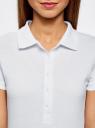 Поло из ткани пике (комплект из 2 штук) oodji для женщины (белый), 19301001T2/46161/1000N