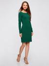 Платье трикотажное облегающего силуэта oodji для женщины (зеленый), 14001183B/46148/6E00N - вид 6