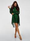 Платье шифоновое с асимметричным низом oodji для женщины (зеленый), 11913032/38375/6B29A - вид 2
