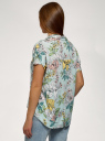 Блузка вискозная свободного силуэта oodji для женщины (зеленый), 11405139-1/24681/6552F