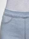Джинсы-легинсы базовые oodji для женщины (синий), 12104043-6B/47828/7000W