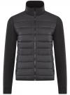 Куртка комбинированная с воротником-стойкой oodji #SECTION_NAME# (черный), 5L911039M/25278N/2900N