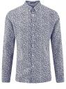Рубашка льняная принтованная oodji #SECTION_NAME# (синий), 3L110323M/48268N/1079F