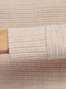 Платье оверсайз со спущенной линией плеча oodji для женщины (бежевый), 14008037/49648/3300M