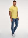 Рубашка базовая с коротким рукавом oodji #SECTION_NAME# (желтый), 3B240000M/34146N/5200N - вид 6