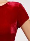 Платье миди с вырезом на спине oodji #SECTION_NAME# (красный), 24001104-8B/48621/4500N - вид 5