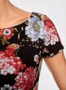 Платье трикотажное приталенного силуэта oodji #SECTION_NAME# (черный), 14001117-14B/45344/294CF - вид 5