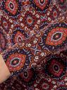 Футболка хлопковая с длинным рукавом oodji для женщины (фиолетовый), 14201033/46147/8345E