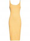 Платье трикотажное на тонких бретелях oodji #SECTION_NAME# (желтый), 14015007-1B/45450/5210S