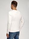 Джемпер хлопковый с длинным рукавом oodji для мужчины (белый), 4B112021M/47167N/1200M
