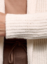 Кардиган вязаный с капюшоном oodji для женщины (слоновая кость), 63205256/49216/3000N