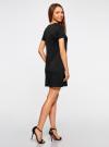Платье свободного силуэта из фактурной ткани oodji #SECTION_NAME# (черный), 14000162/45984/2900N - вид 3