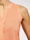 Топ базовый из вискозы oodji для женщины (оранжевый), 14911008-1B/48756/5400N - вид 5