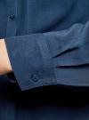 Блузка базовая из вискозы с карманами oodji #SECTION_NAME# (синий), 11400355-4/26346/7502N - вид 5