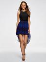 Платье двухслойное с асимметричным низом oodji для женщины (черный), 11902119-2/31266/2978A