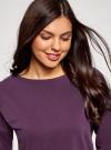 Платье прямого силуэта со спущенной проймой oodji #SECTION_NAME# (фиолетовый), 14008028/48940/8801N - вид 4