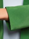 Жакет укороченный без застежки oodji #SECTION_NAME# (зеленый), 11208004/42251/6E00N - вид 5