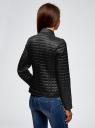 Куртка стеганая на молнии oodji #SECTION_NAME# (черный), 28304005/45684/2900N - вид 3