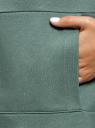 Свитшот oversize с воротником-стойкой oodji для женщины (зеленый), 14808033/48881/6C19P