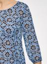 Блузка принтованная из шифона oodji для женщины (синий), 21404007-4/15036/7529G