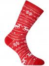 Комплект из трех пар хлопковых носков oodji для женщины (разноцветный), 57102902-4T3/10231/15 - вид 3
