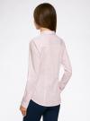 Рубашка приталенная с нагрудными карманами oodji #SECTION_NAME# (розовый), 11403222-4/46440/4010S - вид 3