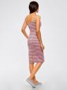 Платье-майка трикотажное oodji #SECTION_NAME# (розовый), 14015007-3B/37809/4123S - вид 3