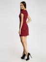 Платье облегающего силуэта из фактурной ткани oodji #SECTION_NAME# (красный), 14001139-3/43631/2945F - вид 3