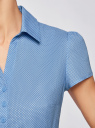 Блузка принтованная из легкой ткани oodji #SECTION_NAME# (синий), 21407022-9/12836/7510D - вид 5