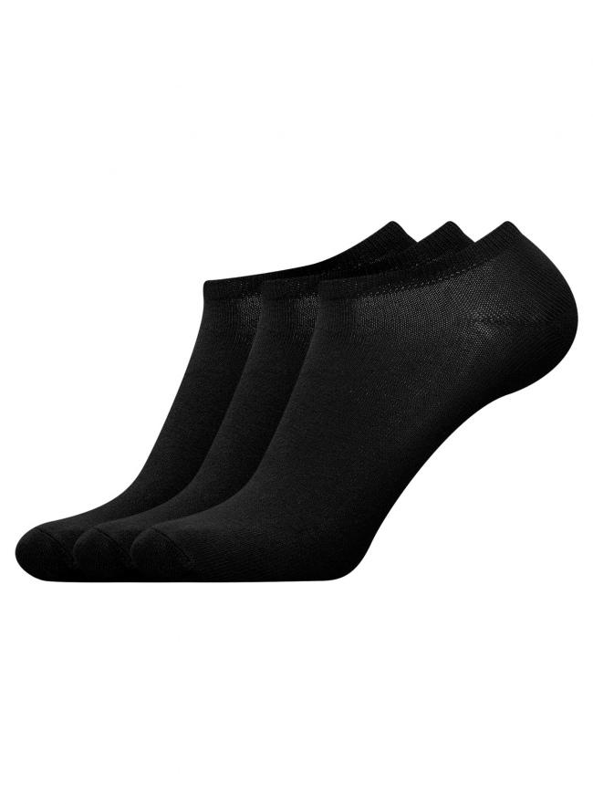 Комплект из трех пар носков oodji для мужчины (черный), 7B231000T3/47469/2900N