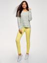 Джинсы-легинсы на эластичном поясе oodji для женщины (желтый), 12104043-7B/46261/6700W