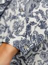 Блузка принтованная из шифона oodji #SECTION_NAME# (белый), 11400394-5/36215/1279E - вид 5